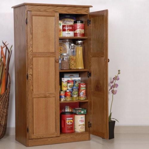 Oak Pantry Storage Cabinet Alluring Pantry Storage Cabinet 0 Door