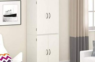 Amazon.com: Gracelove Kitchen Pantry Storage Cabinet White 4 Door