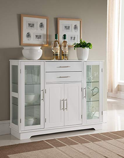 Amazon.com - Kings Brand Kitchen Storage Cabinet Buffet with Glass