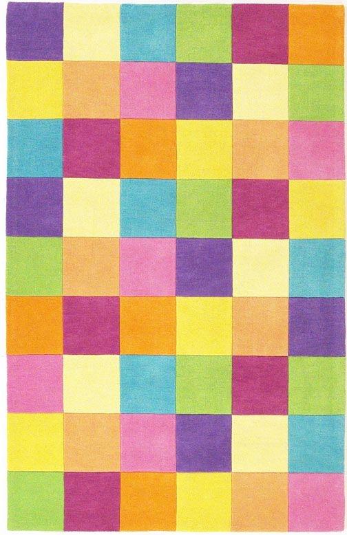Kidding Around 420 Girls' Color Blocks Rug by Kas