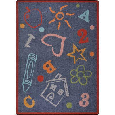 Joy Carpets Playful Patterns Kid's Art Purple Area Rug | Classroom