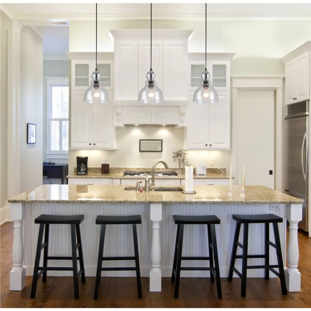 Industrial Pendant Light Glass Ceiling Lamp Lighting Fixture Kitchen