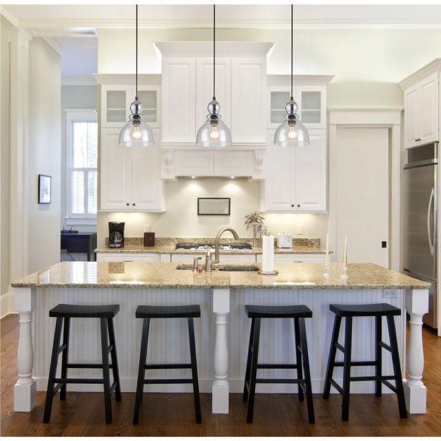 Industrial Pendant Light Glass Ceiling Lamp Lighting Fixture Kitchen