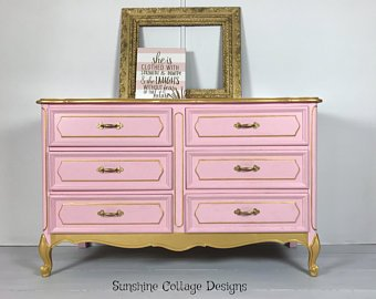 Pink dresser | Etsy