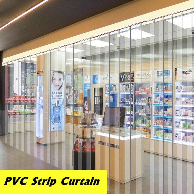 Transparent PVC Plastic Strip Curtain 200*18*0.1cm Freezer Room Door