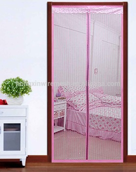 Polyester Screen Netting Material Magnetic Mosquito Net Door Curtain