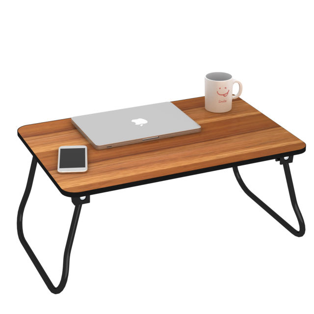 Black Portable Lap Desk Folding Laptop Table Bed Computer Tray Stand
