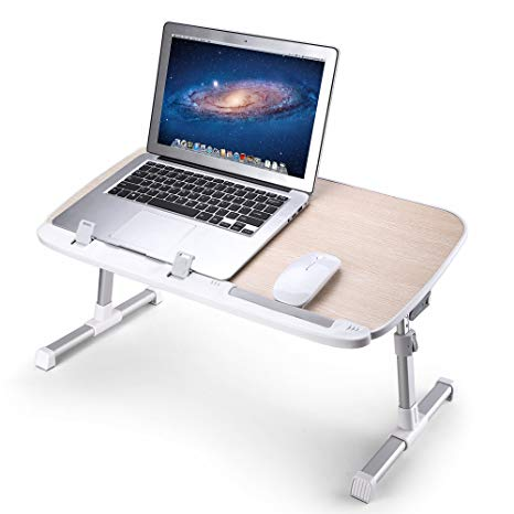 Amazon.com: AboveTEK Folding Laptop Table Stand for Bed, Portable