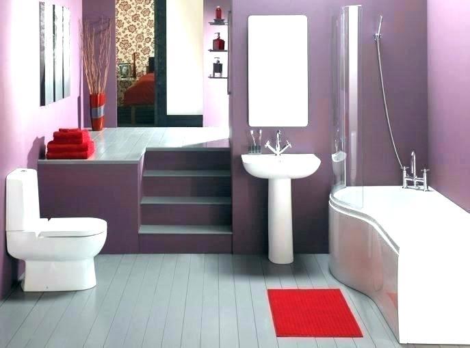 Excellent Bathroom Purple Accessories Purple And Black Bathroom