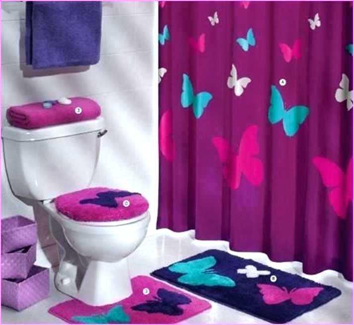 Purple Bath Decor Latest Precious Black And Pink Bathroom Sets U