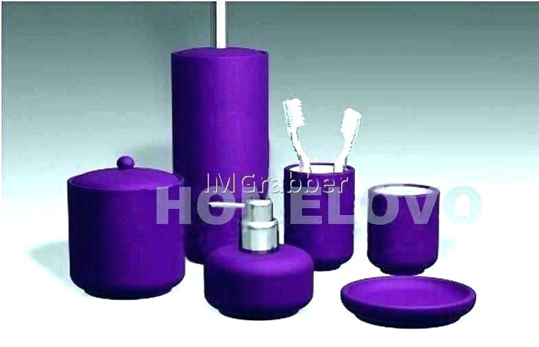 Purple Bathroom Accessories Sets Purple Bathroom Sets Elegant Purple