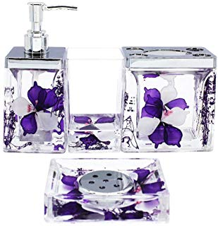 Amazon.com: Purple - Bathroom Accessory Sets / Bathroom Accessories