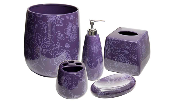 15 Elegant Purple Bathroom Accessories | Home Design Lover