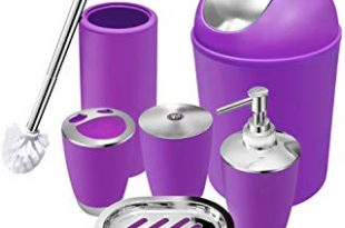 Amazon.com: Purple - Bathroom Accessory Sets / Bathroom Accessories