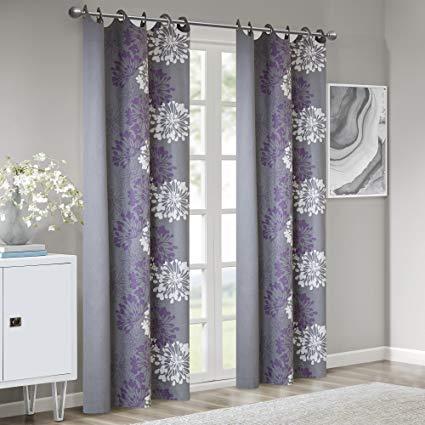 Purple Curtain Design | all home interior ideas