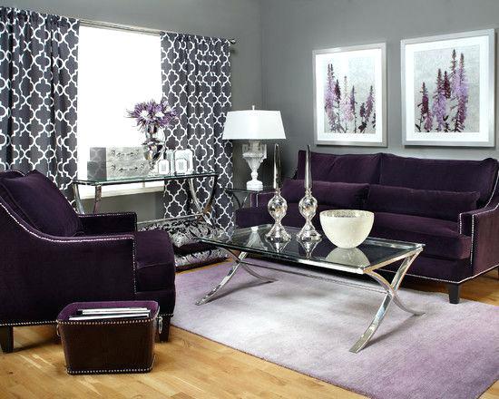 Impressive Living Room Ideas With Purple Curtains u2013 machenry.me