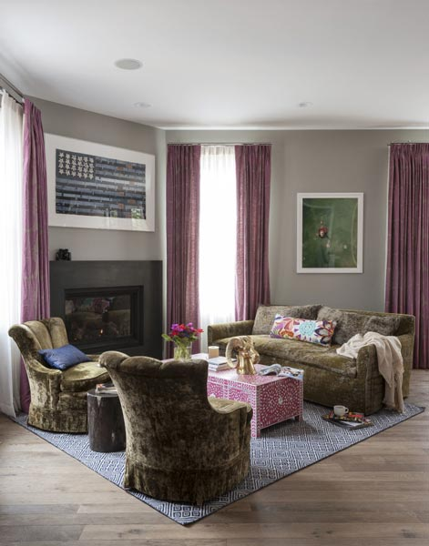 75 Lively Purple Living Room Photos 2019 | Shutterfly