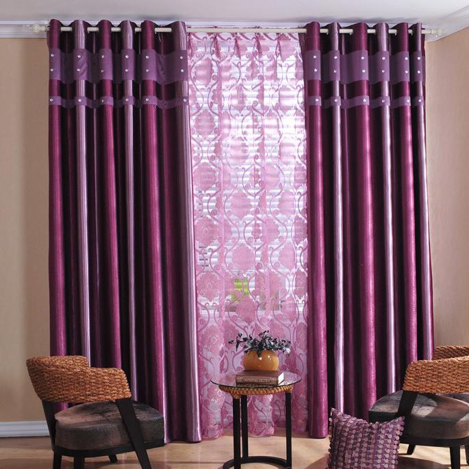 Purple Curtain Design | Modern Minimalist Home Design