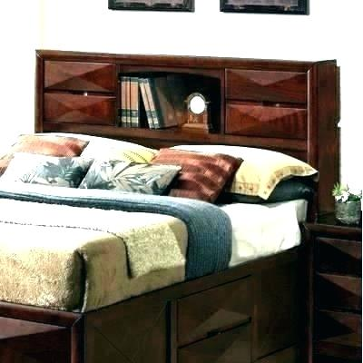 Headboard With Lights And Storage King Size Queen Wood Rustic Wooden