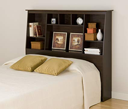 Amazon.com: Prepac ESH-6656 Tall Slant-Back Bookcase Headboard