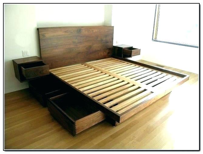 Queen Platform Beds With Storage And Headboard Full Platform Bed