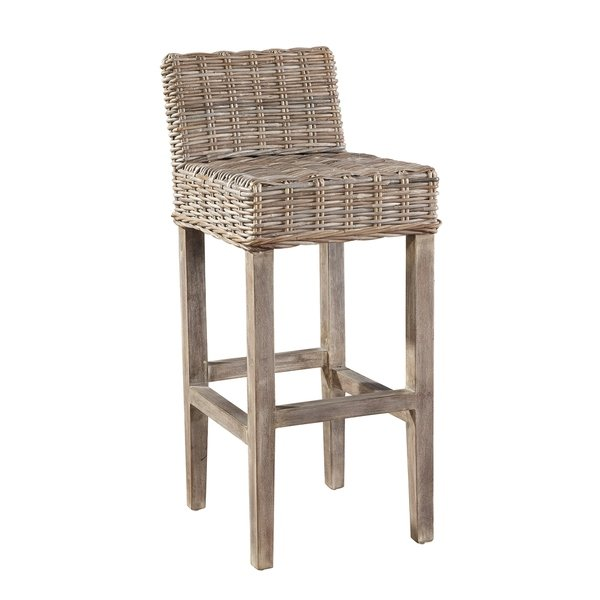 Shop Auger Handwoven Rattan Bar Stool - Free Shipping Today