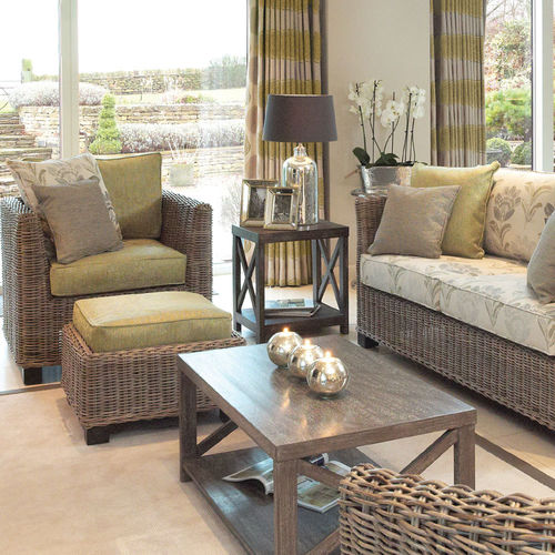 Wicker Chairs|Cane Conservatory Furniture Sets|Rattan - Candle and Blue