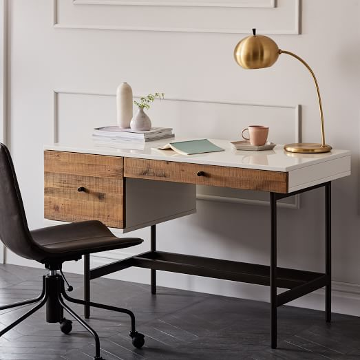 Reclaimed Wood + Lacquer Desk | west elm