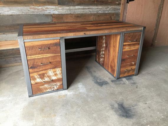 Industrial Modern Desk / 6-Drawer - WHAT WE MAKE