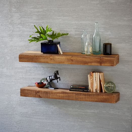 Reclaimed Wood Floating Shelf | west elm