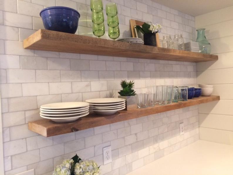 HEAVY-DUTY RECLAIMED Wood Floating Shelves Steel Brackets | Etsy