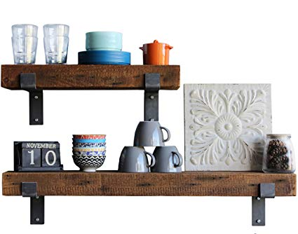 Amazon.com: Urban Legacy Reclaimed Wood Shelves | Floating Or with