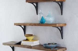 Reclaimed Wood Shelving + Brackets | west elm