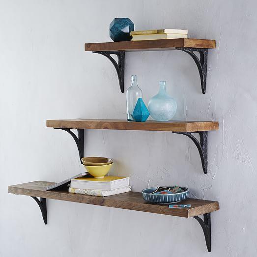 Reclaimed Wood Shelf With Brackets