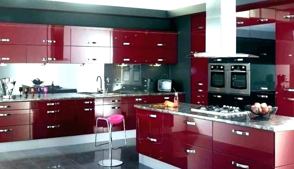 Red And White Kitchen Decorating Ideas Fabulous Red Kitchen And Oak Kitchen  Cabinet