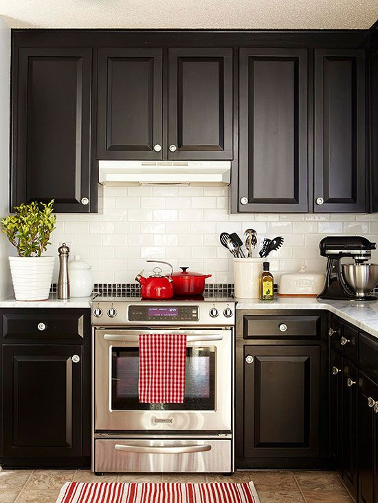 Kitchen Decorating Ideas | Kitchen Ideas | Black kitchen cabinets, Kitchen  decor, Kitchen remodel