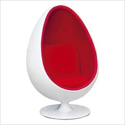 Chairs In Unusual Shapes-The Egg Chair u2013 Retro Furnishing