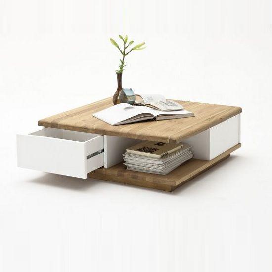Wooden Coffee Table, Storage, Oak, Furnitureinfashion UK | Interior