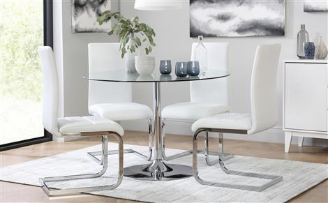 Glass Dining Table Chairs Sets Furniture Choice For Round Tables