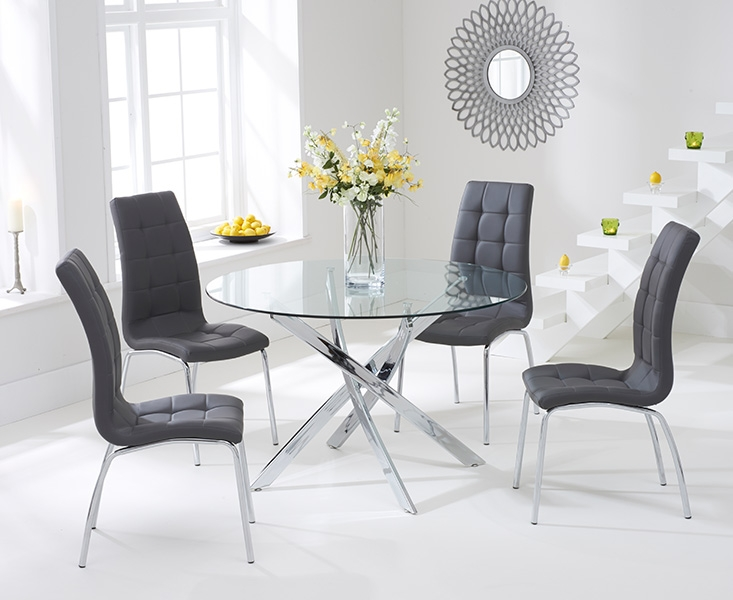Dining Tables. glamorous round glass dining table and chairs