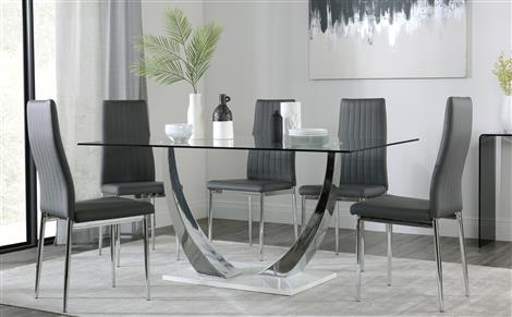 Glass Dining Table & Chairs - Glass Dining Sets | Furniture Choice