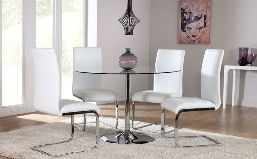 4 optimal choices in glass dining table and chairs u2013 BlogBeen