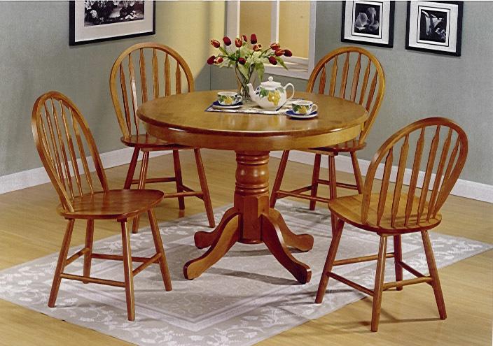 having a Round Wood Kitchen Table round oak - Furnish Ideas