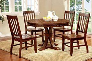 Amazon.com - Furniture of America Castile 5-Piece Transitional Round