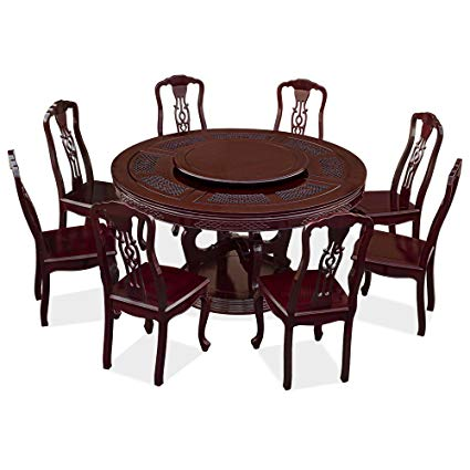 Amazon.com - ChinaFurnitureOnline Rosewood Round Dining Table Set