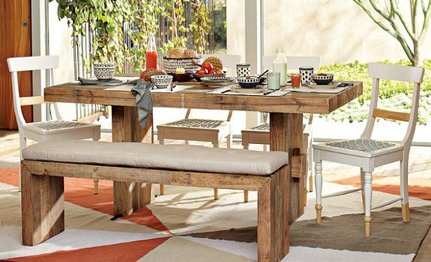 Dining Room Furniture Vintage Rustic House Design With Old Oak For Table  Bench Plans 19 Beautiful