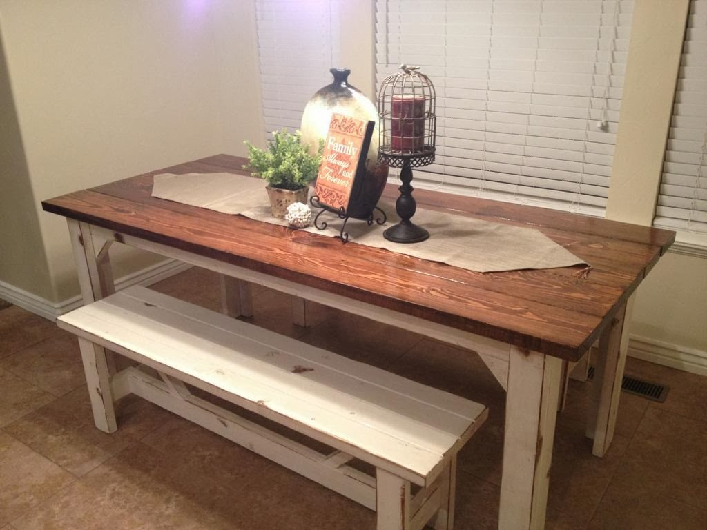 Rustic Kitchen Table Sets and Bench