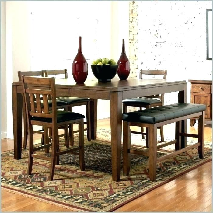 rustic dining table with bench dinner tables benches kitchen and chairs  awesome sofa corner storage set