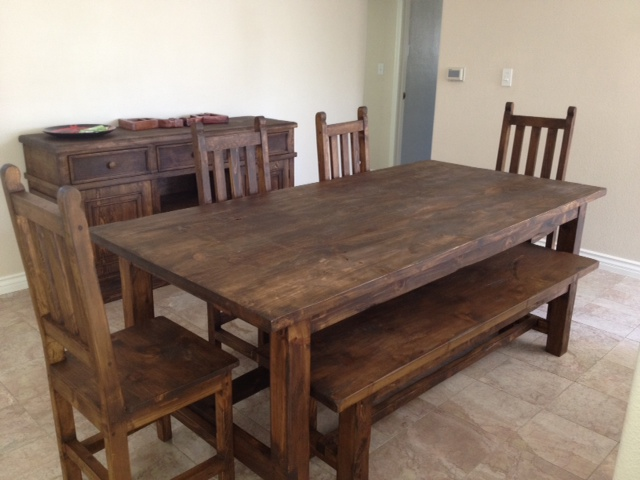 Rustic Dining Room Table With Bench Fresh Photos Of Regarding Prepare 6
