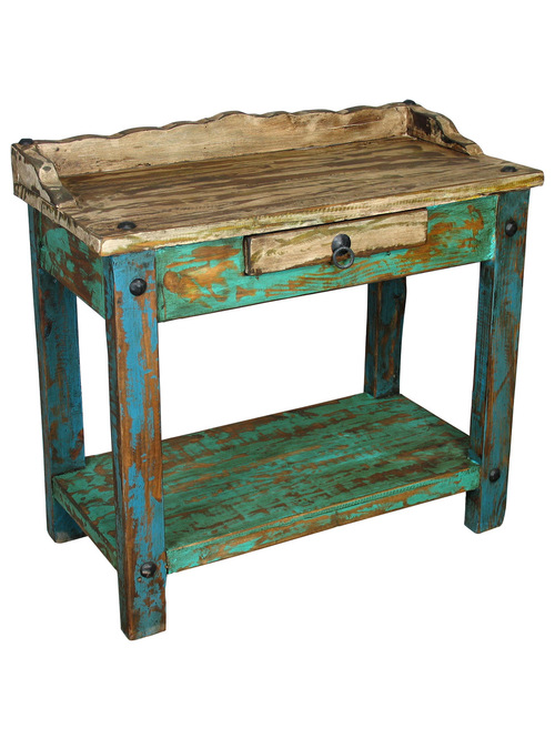 Amazing of Rustic Painted Furniture Rustic Painted Wood Mexican
